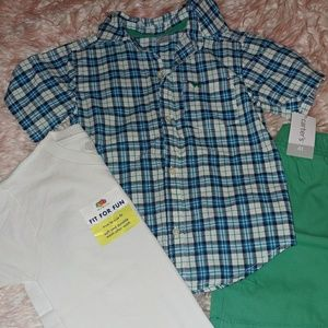 Boys 4t lot Carter's outfit and fruit of the loom
